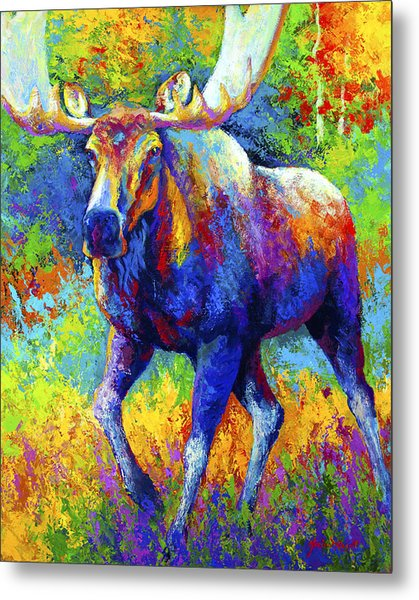 The Urge To Merge - Bull Moose Metal Print