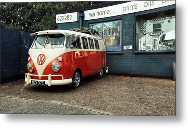 The Van Metal Print