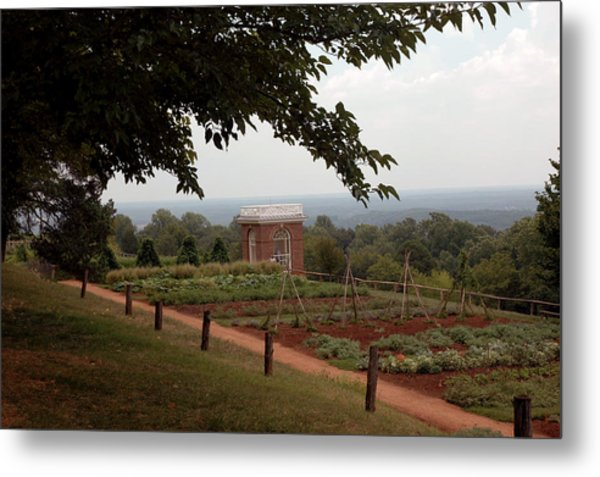 The Vegetable Garden At Monticello Metal Print