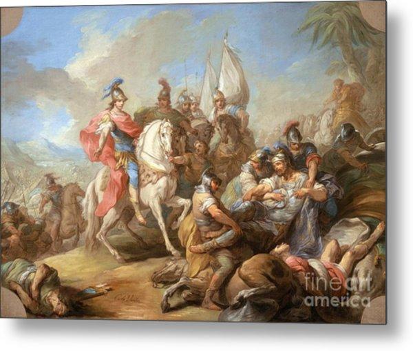 The Victory Of Alexander Over Porus Metal Print