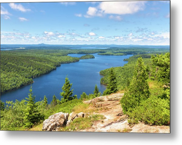 Metal Print featuring the photograph The View From Beech Mountain by John M Bailey