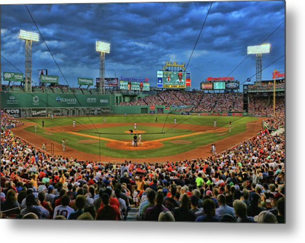 The View From Behind Home Plate - Fenway Park Metal Print