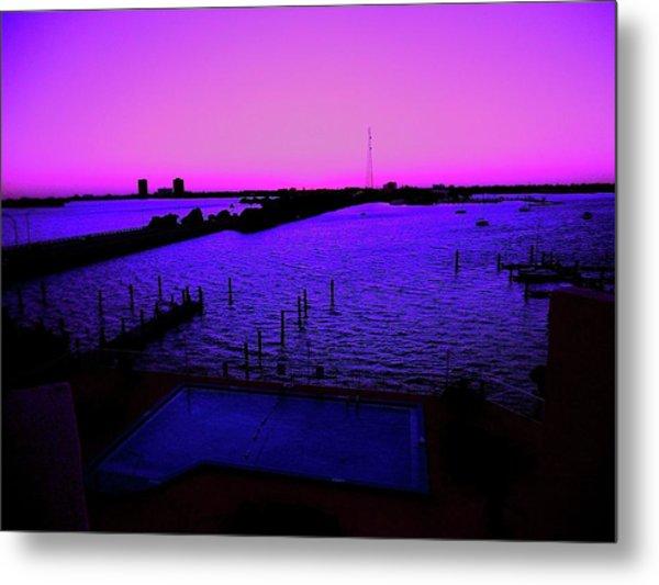 The Purple View  Metal Print
