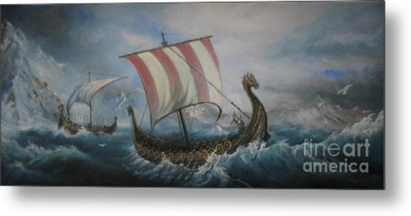 The Vikings Metal Print