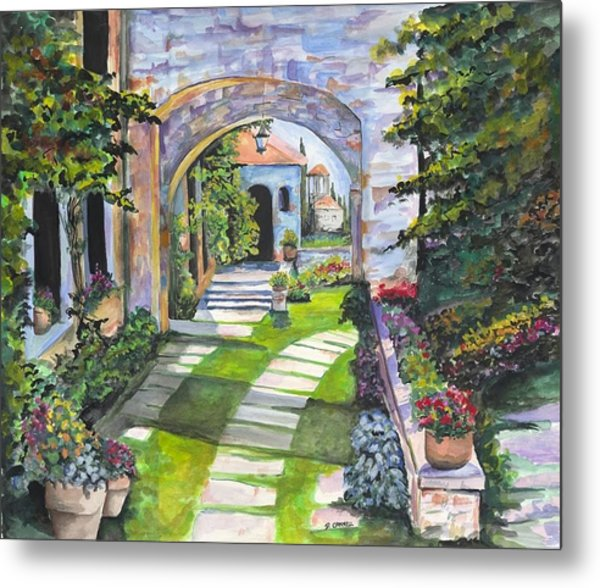 Metal Print featuring the digital art The Villa by Darren Cannell