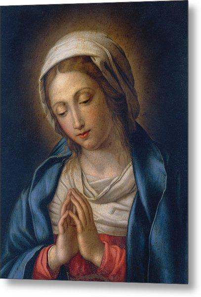The Virgin At Prayer Metal Print