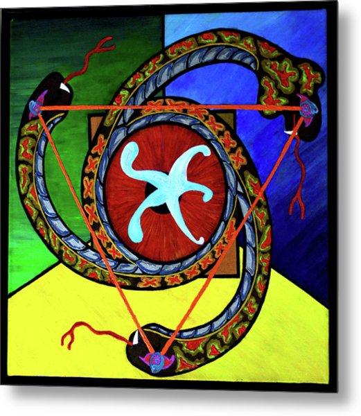The Vitruvian Serpent Metal Print