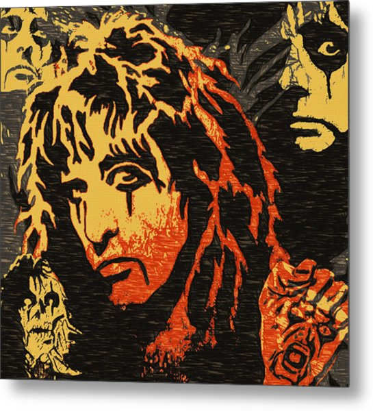 Those Eyes Of Alice Cooper Metal Print