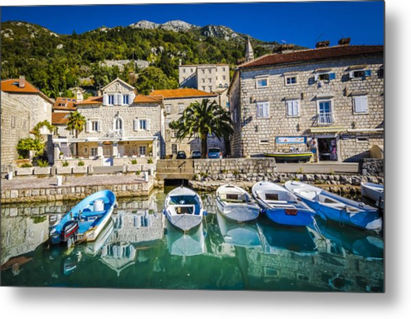 The Waiting Boats Metal Print