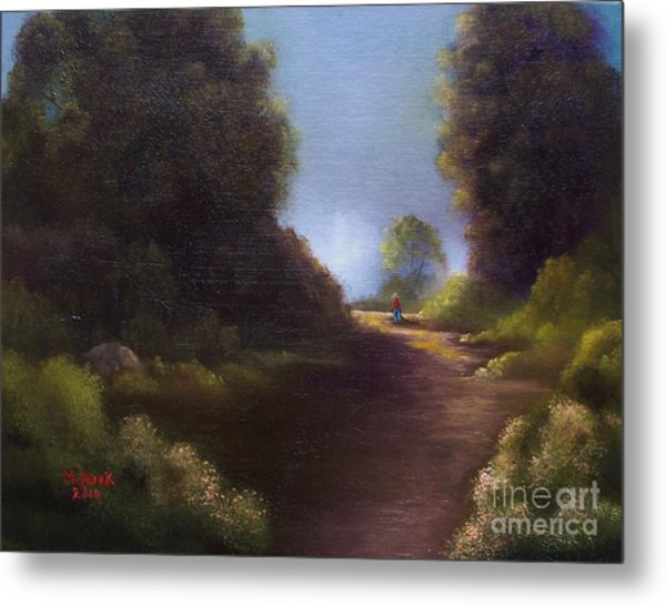 The Walk Home Metal Print