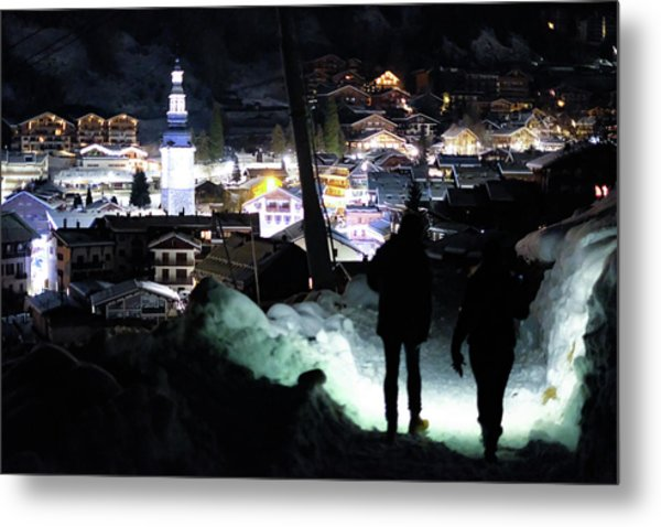 The Walk Into Town- Metal Print