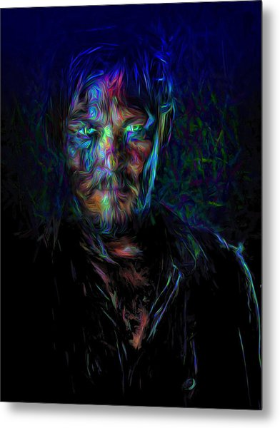 The Walking Dead Daryl Dixon Painted Metal Print