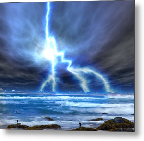The Walking Dude Metal Print by David Jackson