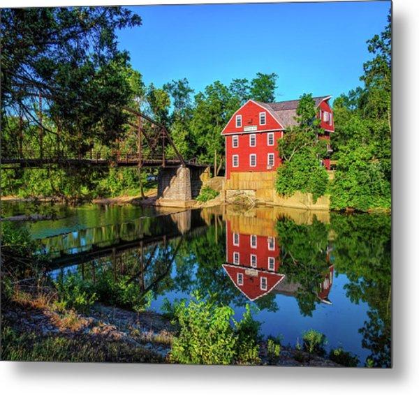 The War Eagle Arkansas Mill And Bridge IIi - Northwest Arkansas Metal Print