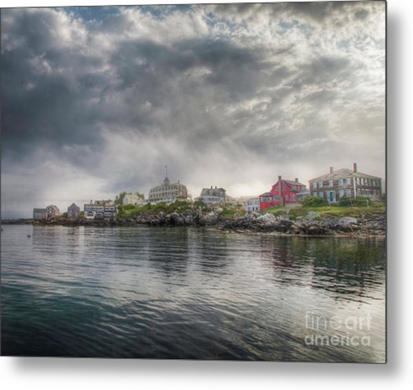 Monhegan Harbor View Metal Print