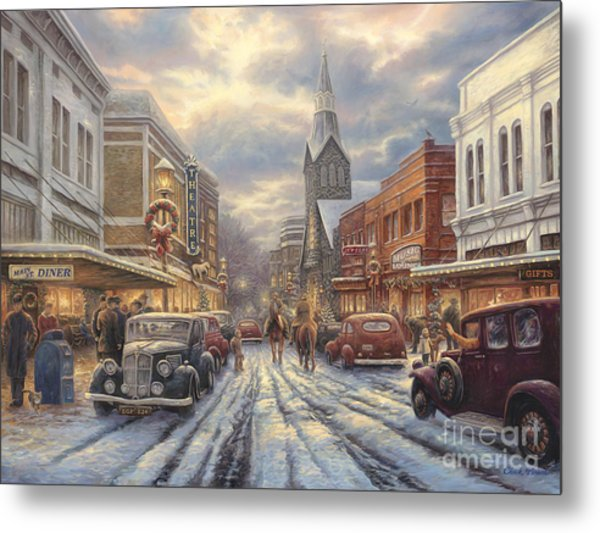 The Warmth Of Small Town Living Metal Print
