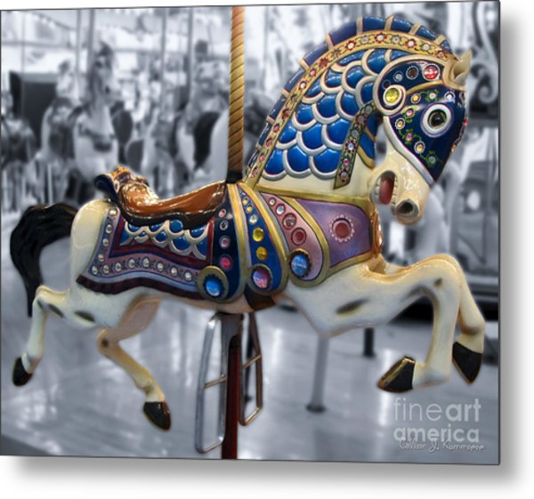 The Warrior Steed Metal Print