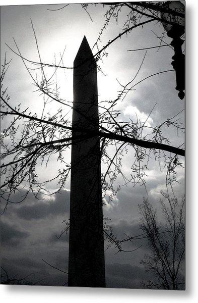 The Washington Monument - Black And White Metal Print