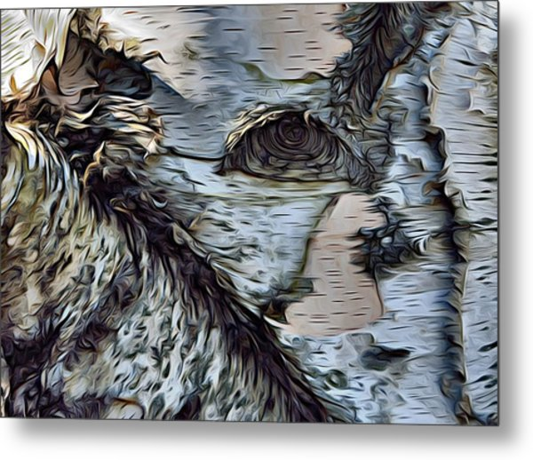 The Watcher In The Wood Metal Print