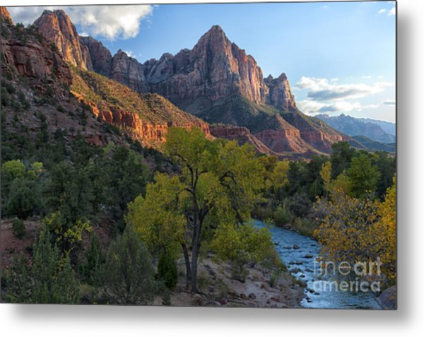 The Watchman And Virgin River Metal Print