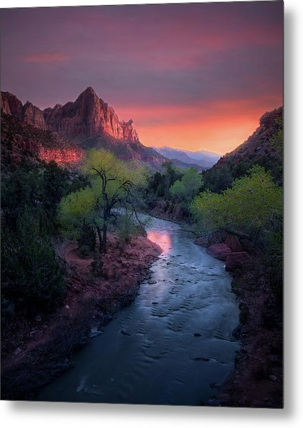 The Watchman // Zion National Park  Metal Print