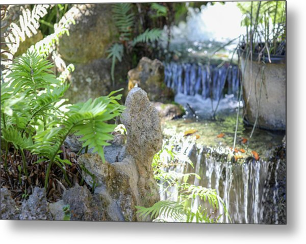 The Water And Rock Spot Metal Print
