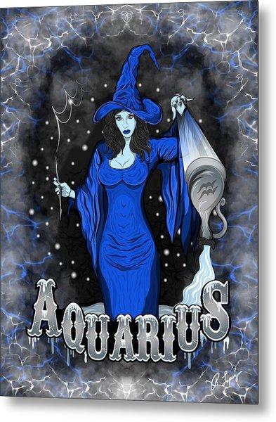 The Water Bearer Aquarius Spirit Metal Print