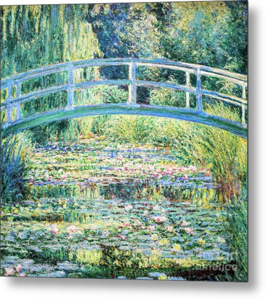 The Water Lily Pond By Monet Metal Print