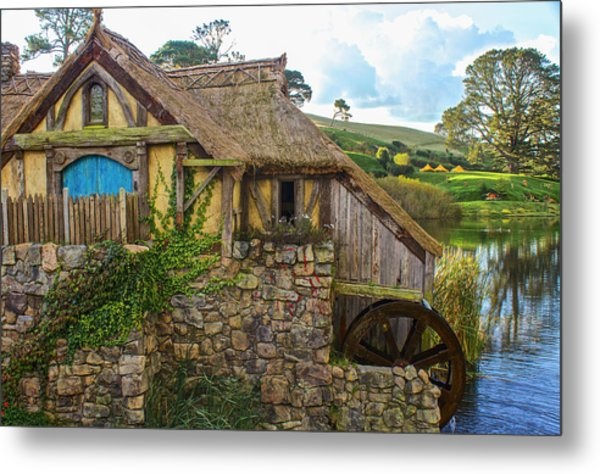 The Watermill, Bag End, The Shire Metal Print