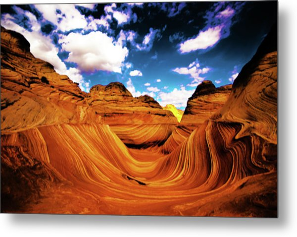 Metal Print featuring the photograph The Wave Arizona Light by Norman Hall