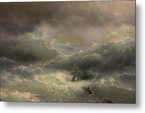 The Wave Metal Print by Ivan Aivazovsky
