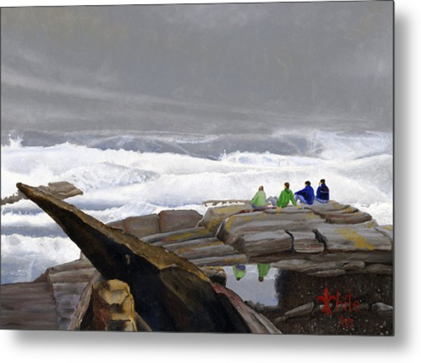 The Wave Watchers Metal Print
