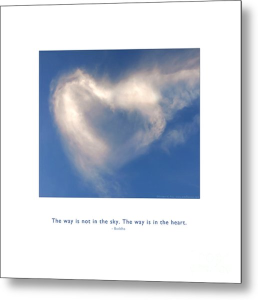 Metal Print featuring the photograph The Way Is In The Heart by Kristen Fox