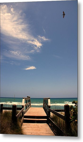 The Way Out To The Beach Metal Print