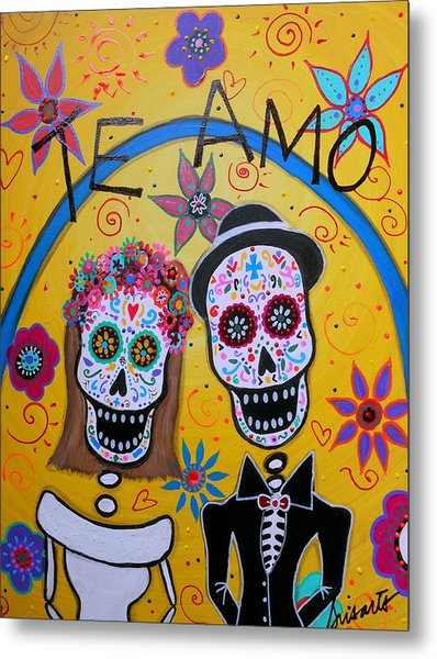 The Wedding Day Of The Dead Metal Print