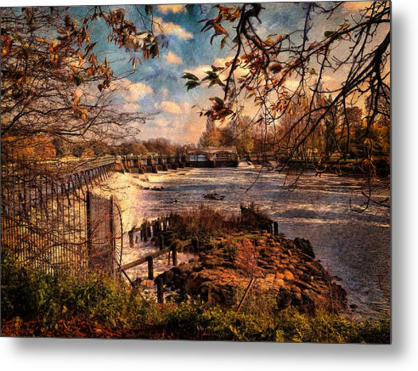 The Weir At Teddington Metal Print