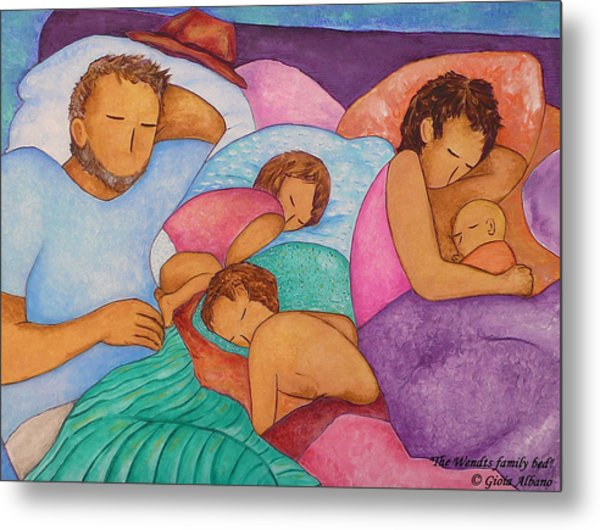 The Wendts Family Bed Metal Print