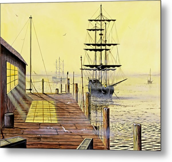 The Wharf Metal Print by Don Griffiths