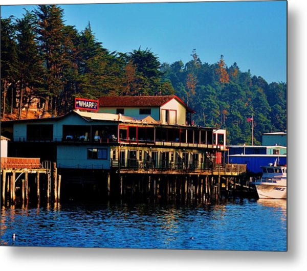 The Wharf Metal Print by Helen Carson