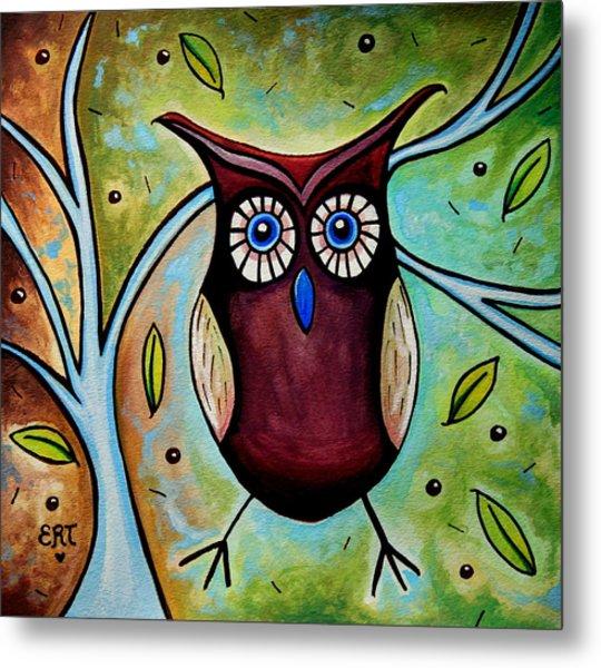 The Whimsical Owl Metal Print