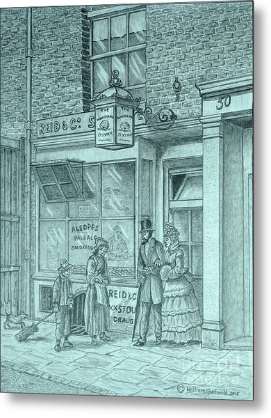 The Whistling Oyster Metal Print