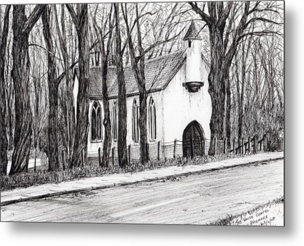 The White Chapel Metal Print
