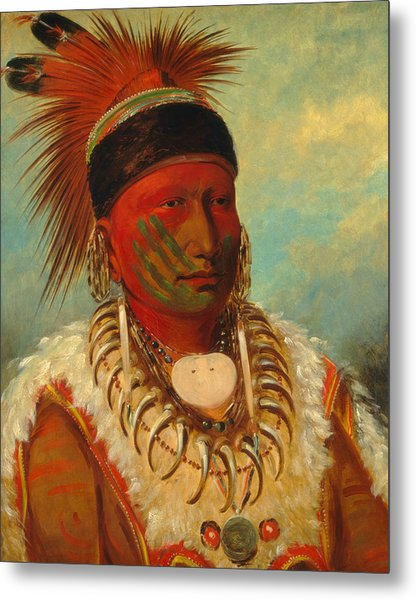 The White Cloud, Head Chief Of The Iowas Metal Print
