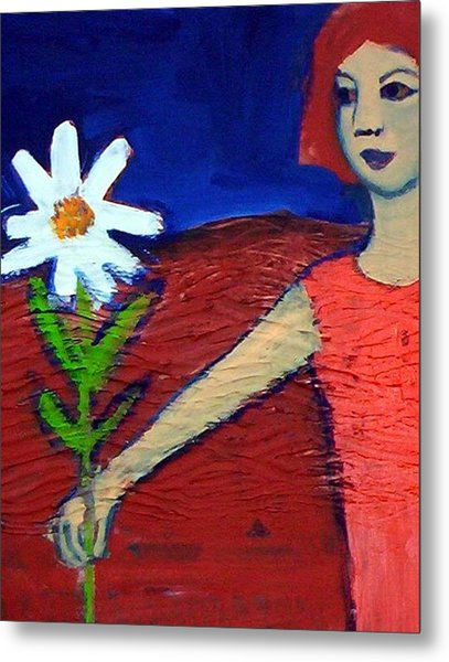 The White Flower Metal Print