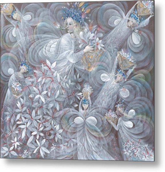 The White Hibiscus Metal Print