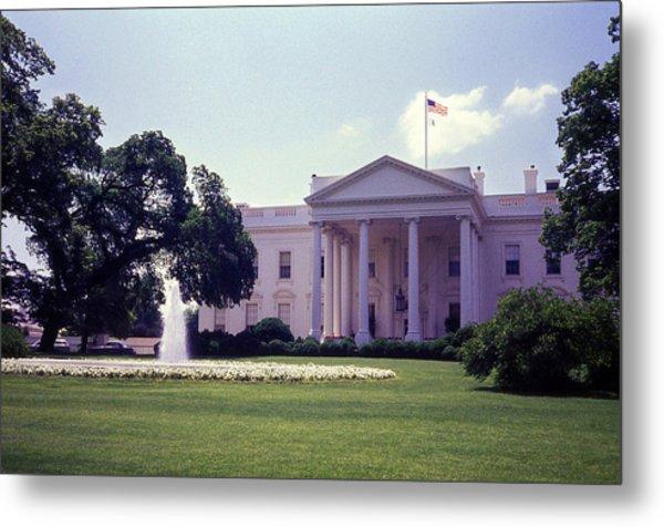 The White House Front Lawn Metal Print by Richard Singleton