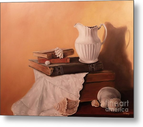 The White Pitcher Metal Print by Patricia Lang