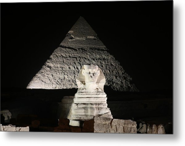 The White Sphynx Metal Print