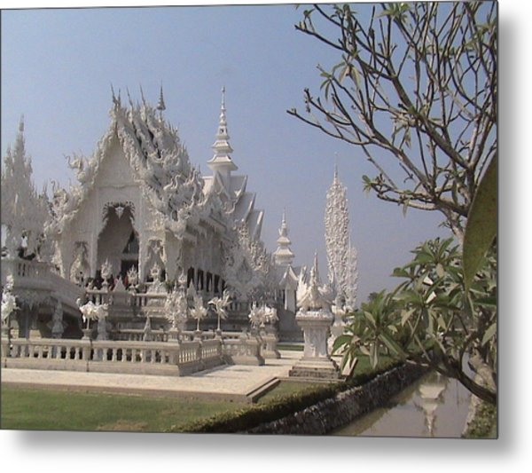 The White Temple Metal Print by William Thomas