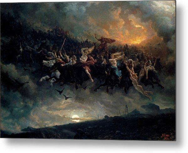 The Wild Hunt Of Odin Metal Print